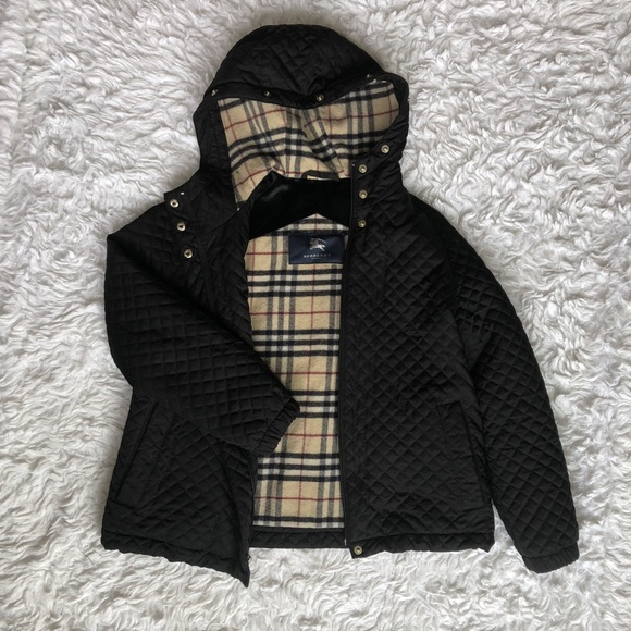 a3627b1b507 Burberry Jackets   Blazers - Burberry Black Quilted Bomber Jacket Coat Sz XS